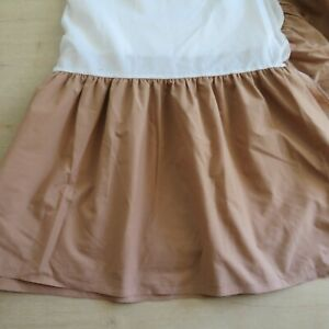 Vintage Full Size Bed Skirt Light Brown Tan Made in USA