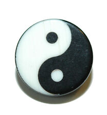 BLACK & WHITE YIN YANG TIE PIN TACK (089)