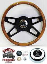 "1968-1969 Torino steering wheel Cobra 13 1/2"" Walnut 4 Spoke black"