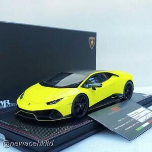 Lamborghini Hurcan EVO Fluo Capsule Giallo Clarus MR COLLECTION 1/18 LAMBO038FCD