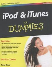 iPod and iTunes For Dummies, Bove, Tony, Good Condition, Book
