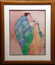 """RC Gorman poster """"La Donna and Child"""" Hand Signed Offset Lithograph custom frame"""