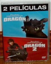 COMO ENTRENAR A TU DRAGON 1 Y 2 DVD 2 PELICULAS NUEVO PRECINTADO (SIN ABRIR) R2