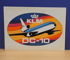 1x Sticker - aufkleber / Postcard KLM Airlines DC-10 with org.back 80's (0799)
