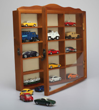 1/64 Car model solid wood display stand, display cabinet,can hang it on the wall