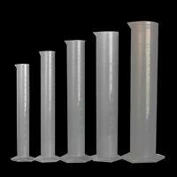 6 SIZE Measuring Cylinder Laboratory Test Graduated Liquid Tube Jar Tool Plastic