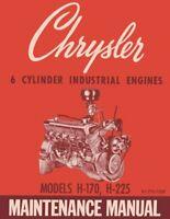 OEM Repair Maintenance Shop Manual Chrysler 6 Cylinder H-170/H-225 Engines 1963