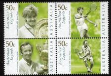 Australia MNH 2003 Australian Legends - Tennis Player-Block of 4