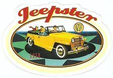 1950 JEEPSTER CAR Sticker Decal
