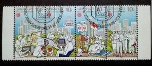 Singapore 1986 NTUC 25th Anniversary Complete Set Strip Of 4 - 4v Used #1