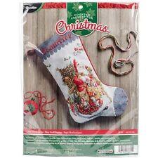 Bucilla Old World Santa Stocking Counted Cross Stitch Kit - 402430