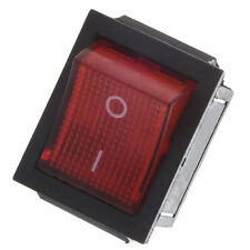 Red Light Illuminated 4 Pin DPST ON/OFF Snap in Rocker Switch 16A 20A 250V AC TS