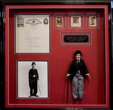 Charlie Chaplin Memorabilia Display Rare Signed Letter PSA/DNA