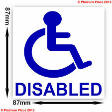 LOGO disabili la mobilità sticker-car-taxi-minibus-cab-coach-disability sign-worded