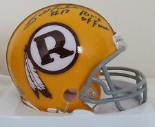 """Billy Kilmer Signed Washington Redskins Yellow R Mini Helmet with """"Ring of Fame"""""""