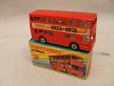 1971 MATCHBOX LESNEY SUPERFAST #17 1953-1978 LONDONER LONDON BUS WITH BLACK MIB