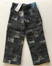 NWT Gymboree Festive Holiday 5 5T Gray Houndstooth Herringbone Patchwork Pants