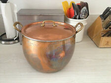 Beautiful Ruffoni Hammered Copper Large 13.25 Quart Stockpot, Made In Italy,Cook