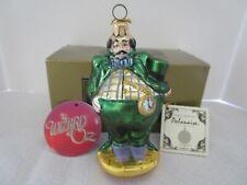 "Kurt Adler Polonaise Wizard of Oz ""Munchkin Mayor"" Glass Ornament"