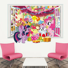 3D Window Removable My Little Pony Wall Decal Sticker Kids Room Home Decor USA