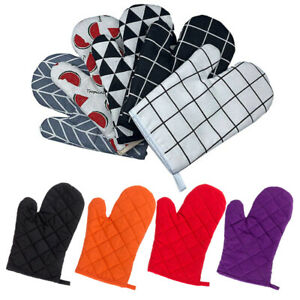 2PCS Non-slip Oven Gloves Kitchen Cooking Pot Holder Heat Resistant Thick Mitts