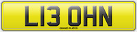 L13 OHN LEON NUMBER PLATE REGISTRATION LEON'S DELIVERED OR ASSIGNED FREE LEONA