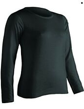 ColdPruf Women's Platinum Plus Size - Only Dual Layer Crew Neck Top, Black, 1X