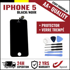 AA+ LCD TOUCH SCREEN/SCHERM/ÉCRAN BLACK NOIR & VERRE TREMPÉ + TOOLS FOR IPHONE 5
