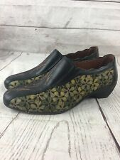PIKOLINOS ROMANA FLORAL CUT OUT SLIP ON SHOES SIZE 37 US 6.5-7 Comfort Leather