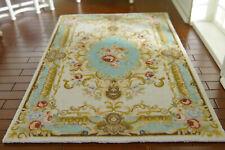 1/12 Scale Fine Dollhouse Beautiful Classic French Swirls Beige Blue Rug