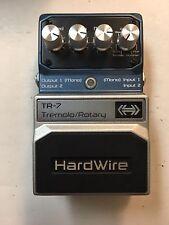 Digitech TR-7 Hardwire Stereo Tremolo Rotary Vibrato Pan Guitar Effect Pedal
