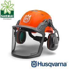 Casco Elmetto Forestale protettivo HUSQVARNA Technical con Visiera e Cuffie