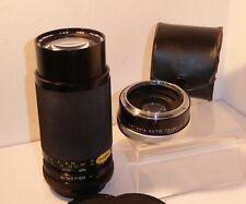 SOLIGOR 80-200mm ZOOM LENS & TELEPLUS TELECONVERTER for CANON FD FILM SLRs (663)