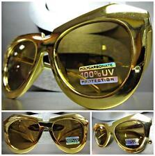 CLASSIC VINTAGE RETRO Style PARTY CLUB RAVE PIMP SUN GLASSES Chrome Gold Frame