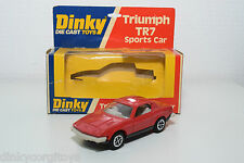 DINKY TOYS 211 TRIUMPH TR7 TR 7 RED GREY BUMPERS MINT BOXED RARE SELTEN