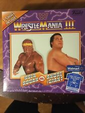 Funko WWE Wrestlemania 3 III T-shirt L Hulk Hogan Andre the Giant Display Ring