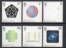 GB MNH 2001 SG2232-2237 CENTENARY OF NOBEL PRIZES SET OF 6