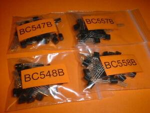 100x Transistor Sortiment BC547 / BC548 / BC 557 / BC558 je 25x