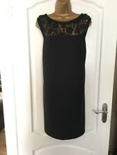 SOUTH LADIES LINEN/VISCOSE BLACK DRESS SIZE 16 SUMMER/HOLIDAY