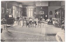 Isle of Wight; Girls Sitting Room, Home Of Rest, Shanklin PPC, 1906 Local PMK