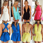 Women Sexy Celeb Chiffon Playsuit Party Evening Summer Dress Romper Jumpsuit
