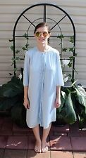 Vintage 80's Light Blue Nightgown & Robe Peignoir Set by J C Penney Size XS
