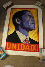 BARACK OBAMA UNIDAD Print signed and #12/500  RAFAEL LOPEZ Very Low print number