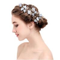 crown fleur épingle à cheveux les clips de mariage les feuilles diadème peignes