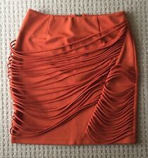 New Ladakh Orange Textured Tubed Skirt Work/Party/Going Out, Size XS (6-8)