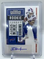 Isaiah Hodgins 2020 Contenders ROOKIE TICKET AUTOGRAPH RC Buffalo Bills #209