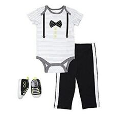 Infant Baby Boy's 3 Piece Hipster Bowtie Suspenders Set Outfit 3-6 Months