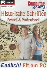 CD-ROM + Computer easy + Historische Schriften + Schnell & Professionell + Win 7