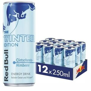 Red Bull Winter Edition Gletschereis Himbeere 12 x 0,25l inkl. 3€ EINWEG Pfand