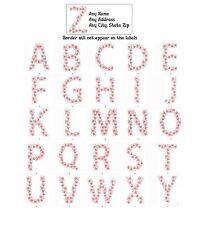 30 Return Address Labels Alphabet Monogram Floral Buy 3 get 1 free (Fl4)